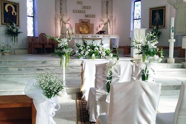 Dekoracja Kościoła Na ślub Busko Kwiaciarnia Kasia
